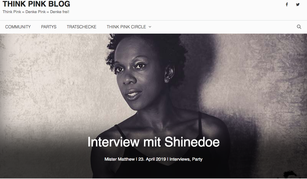 Think Pink Dresden interviews Shinedoe