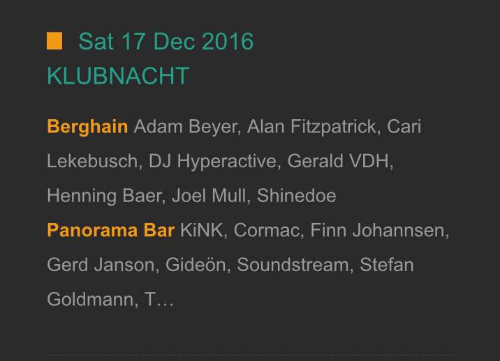 Next month December, catch Shinedoe spinning in Berghain